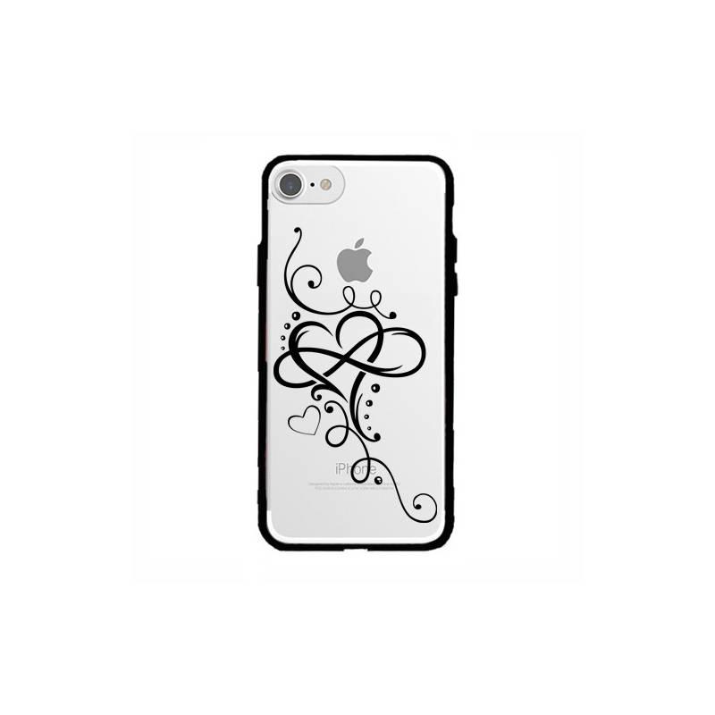 Coque transparente magnetique Apple Iphone 6 / 6s feminine cœur infini