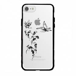 Coque transparente magnetique Apple Iphone 6 / 6s feminine envol fleur