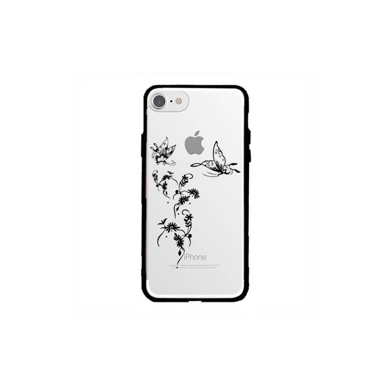Coque transparente magnetique Iphone 6 / 6s feminine envol fleur