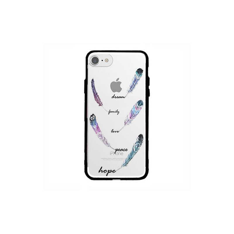 Coque transparente magnetique Iphone 6 / 6s feminine plume couleur