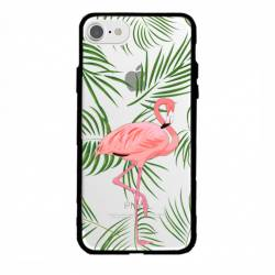 Coque transparente magnetique Apple Iphone 6 / 6s Flamant Rose