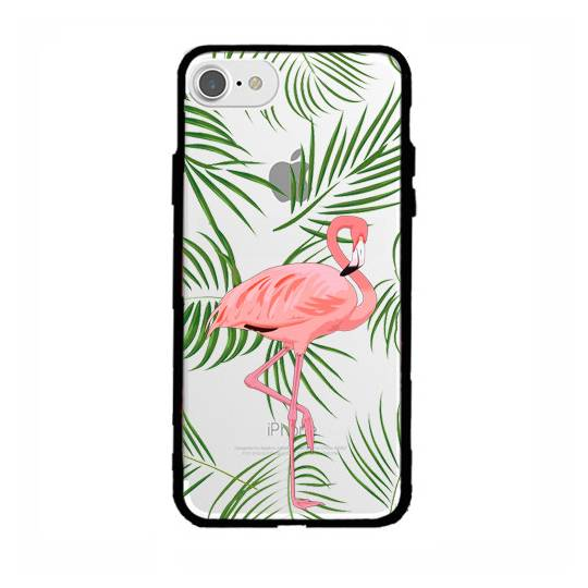 Coque transparente magnetique Apple Iphone 6 / 6s Flamant Rose