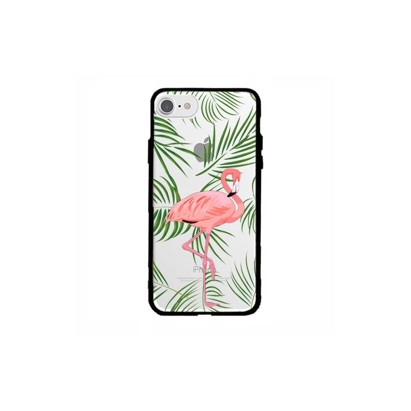 coque transparente magnetique pour iphone 6 6s flamant rose