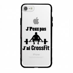 Coque transparente magnetique Apple Iphone 6 / 6s jpeux pas jai crossfit