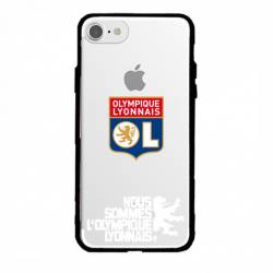 Coque transparente magnetique Apple Iphone 6 / 6s Licence Olympique Lyonnais - double face
