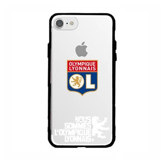 Coque transparente magnetique Apple Iphone 6 / 6s Licence Olympique Lyonnais - double face