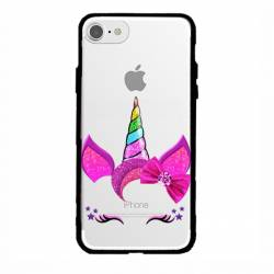 Coque transparente magnetique Apple Iphone 6 / 6s Licorne paillette