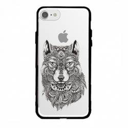 Coque transparente magnetique Iphone 6 / 6s loup