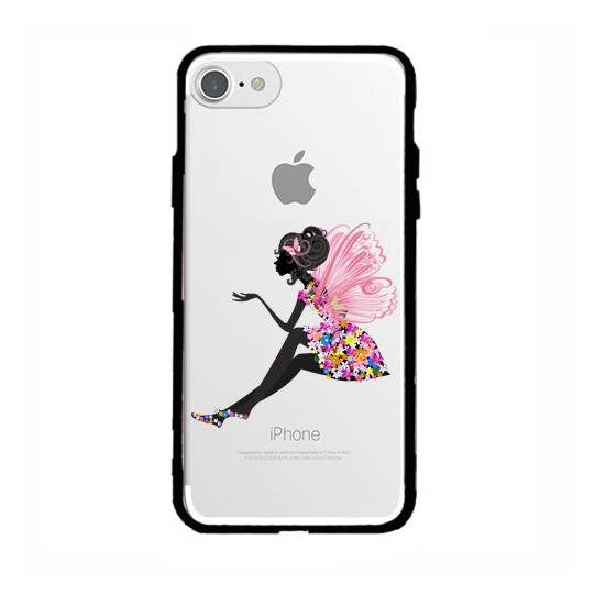 Coque transparente magnetique Apple Iphone 6 / 6s magique fee fleurie