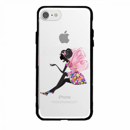 Coque transparente magnetique Apple Iphone 6 / 6s magique fee fleurie