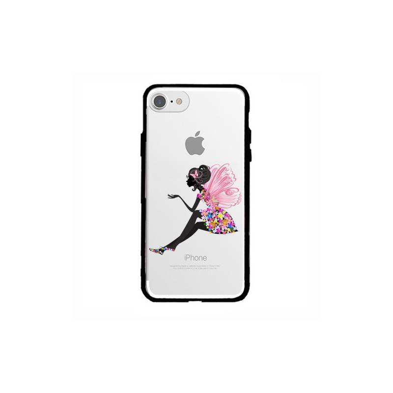 Coque transparente magnetique Iphone 6 / 6s magique fee fleurie