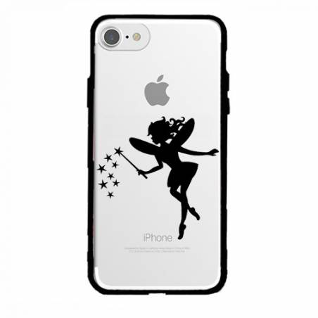 Coque transparente magnetique Apple Iphone 6 / 6s magique fee noir