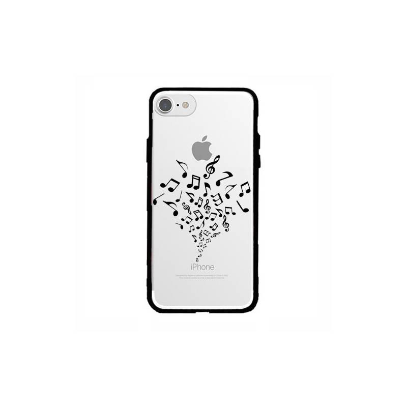 Coque transparente magnetique Apple Iphone 6 / 6s note musique