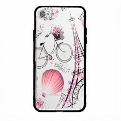 Coque transparente magnetique Apple Iphone 6 / 6s Paris mongolfiere