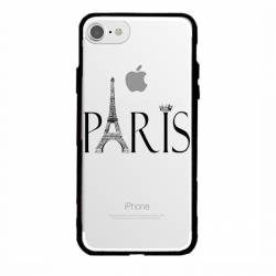 Coque transparente magnetique Iphone 6 / 6s Paris noir