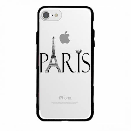 Coque transparente magnetique Apple Iphone 6 / 6s Paris noir
