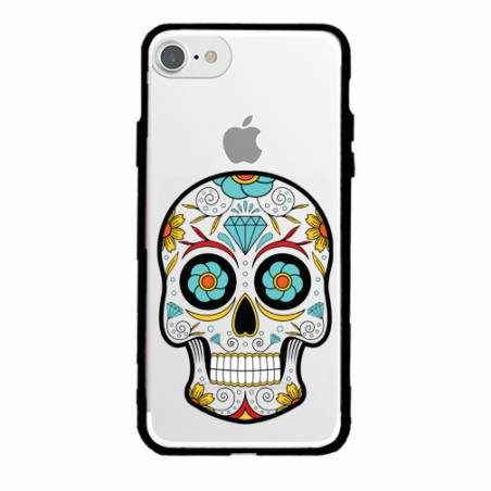 Coque transparente magnetique Apple Iphone 6 / 6s tete mort