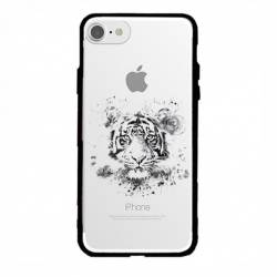 Coque transparente magnetique Iphone 6 / 6s tigre