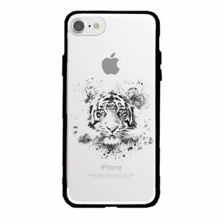 Coque transparente magnetique Apple Iphone 6 / 6s tigre