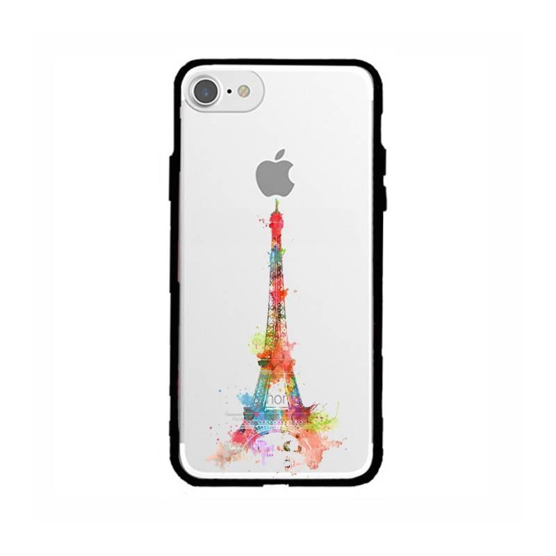 Coque transparente magnetique Apple Iphone 6 / 6s Tour eiffel colore
