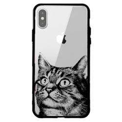 Coque transparente magnetique Apple Iphone X / XS Chaton