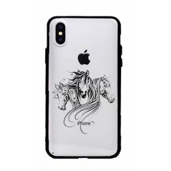 Coque transparente magnetique Apple Iphone X / XS chevaux