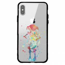 Coque transparente magnetique Apple Iphone X / XS Dobby colore