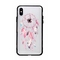 Coque transparente magnetique Apple Iphone X / XS feminine attrape reve rose