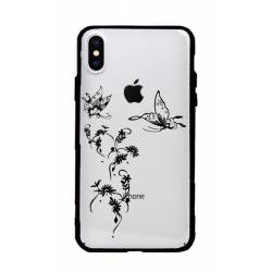 Coque transparente magnetique Apple Iphone X / XS feminine envol fleur