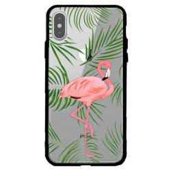 Coque transparente magnetique Apple Iphone X / XS Flamant Rose