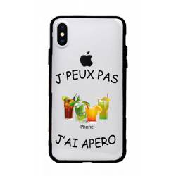 Coque transparente magnetique Apple Iphone X / XS jpeux pas jai apero