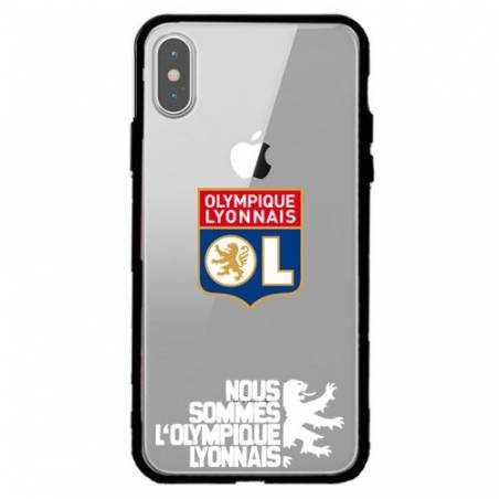 Coque transparente magnetique Apple Iphone X / XS Licence Olympique Lyonnais - double face