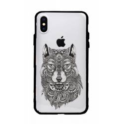 Coque transparente magnetique Apple Iphone X / XS loup