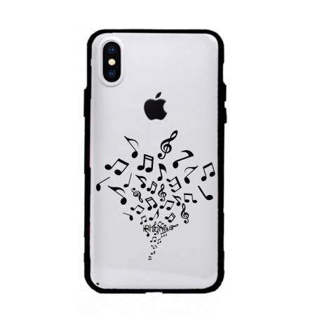 Coque transparente magnetique Apple Iphone X / XS note musique