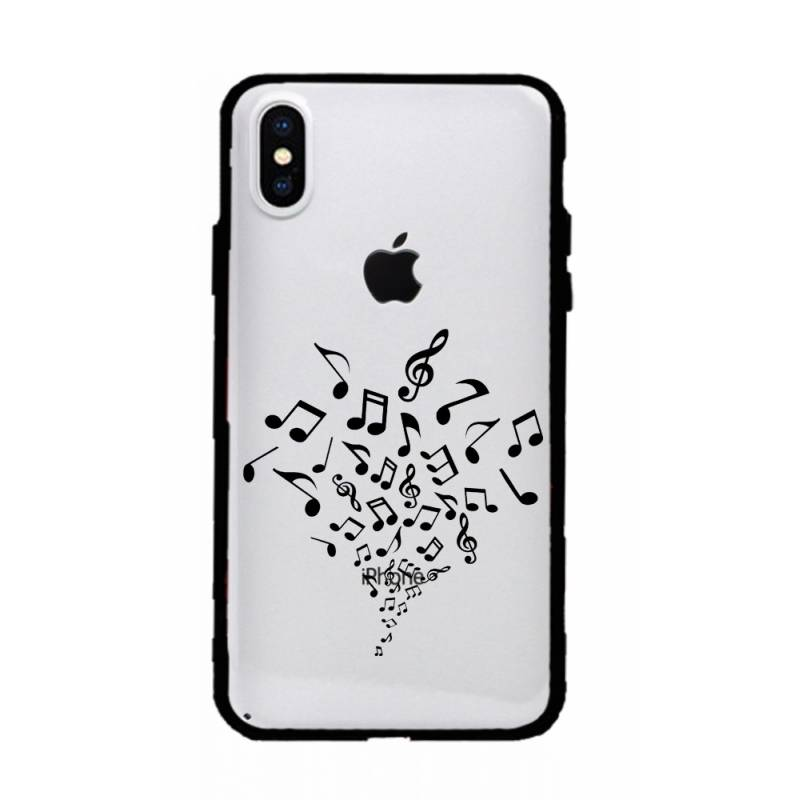 Coque transparente magnetique Iphone X / XS note musique