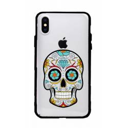 Coque transparente magnetique Apple Iphone X / XS tete mort