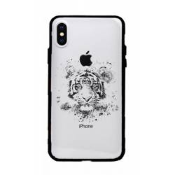 Coque transparente magnetique Apple Iphone X / XS tigre