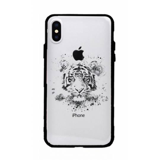 Coque transparente magnetique Iphone X / XS tigre