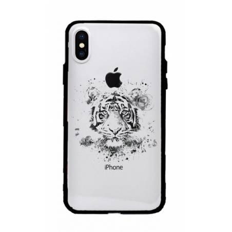 Coque transparente magnetique Apple Iphone X / XS tigre