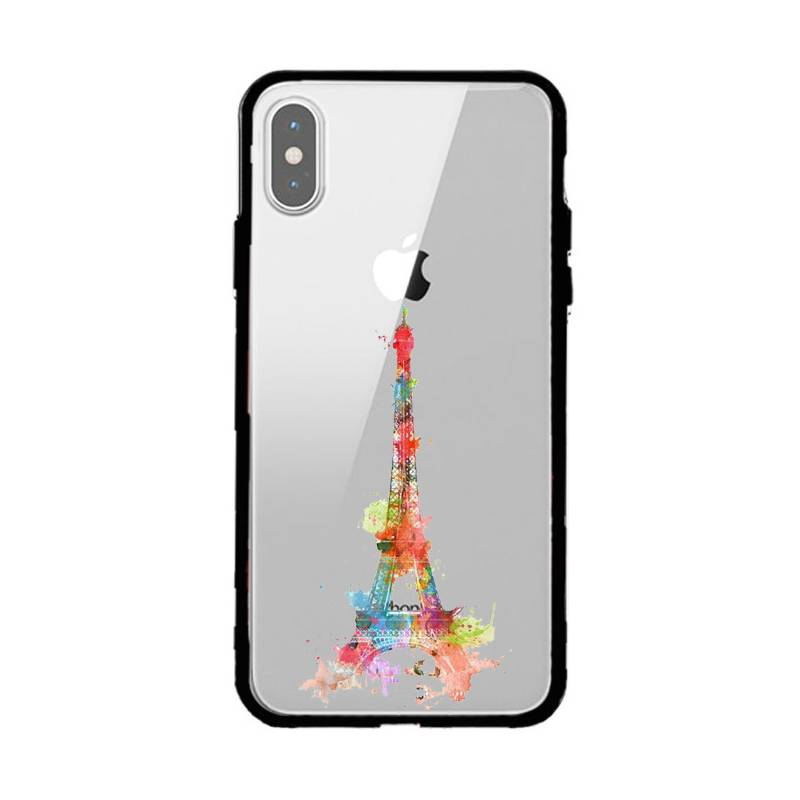 Coque transparente magnetique Iphone X / XS Tour eiffel colore