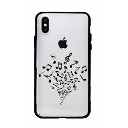 Coque transparente magnetique Apple Iphone XS Max note musique