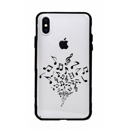 Coque transparente magnetique Iphone XS Max note musique