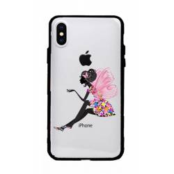 Coque transparente magnetique Apple Iphone XS Max magique fee fleurie