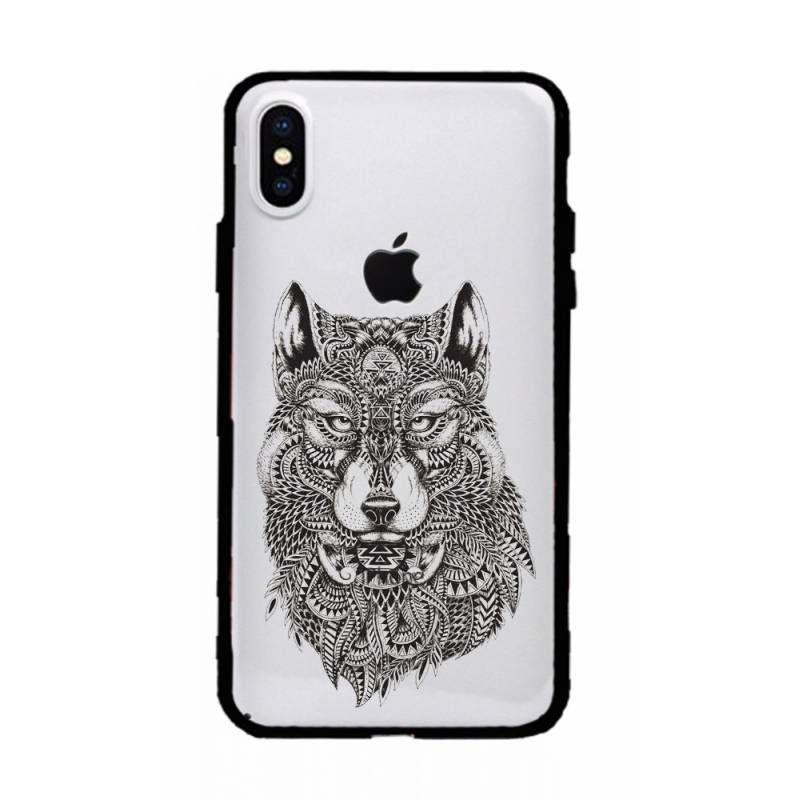 Coque transparente magnetique Iphone XS Max loup