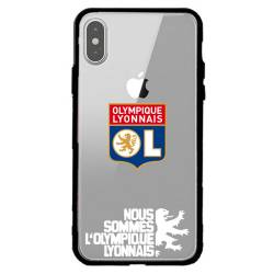 Coque transparente magnetique Apple Iphone XS Max Licence Olympique Lyonnais - double face