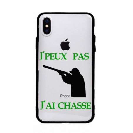 Coque transparente magnetique Apple Iphone XS Max jpeux pas jai chasse