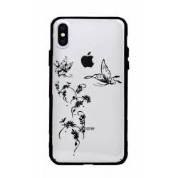 Coque transparente magnetique Apple Iphone XS Max feminine envol fleur