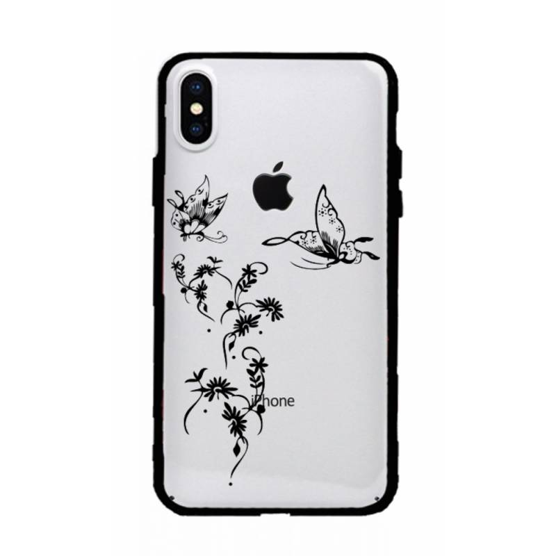Coque transparente magnetique Iphone XS Max feminine envol fleur