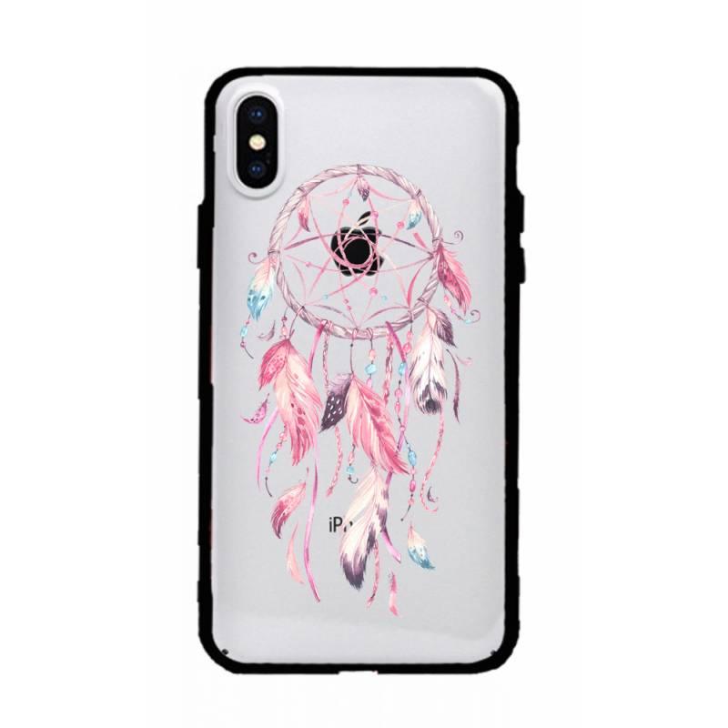 Coque transparente magnetique Iphone XS Max feminine attrape reve rose