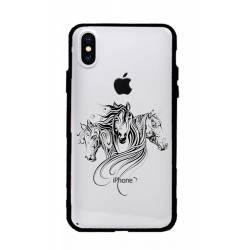Coque transparente magnetique Apple Iphone XS Max chevaux